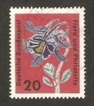 Stamps Germany -  exposicion flora y filatelia en hamburgo, ancolie