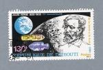 Sellos del Mundo : Africa : Djibouti : Julio Verne de la tierra a la luna