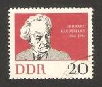 Stamps Germany -  637 - centº del nacimiento del escritor gerhart hauptmann