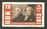 Stamps Germany -  150 anivº de la liberacion de 1813, ernst moritz arndt y freiherr vom stein