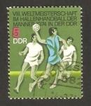 Sellos de Europa - Alemania -  8º mundial  de balonmano, en Alemania
