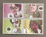 Sellos de Europa - Suiza -  Comics