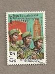 Stamps Cambodia -  5º Aniv de la Liberación Nacional