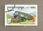 Stamps Cambodia -  Locomotora diesel
