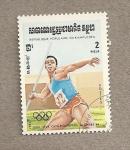 Sellos de Asia - Camboya -  Juegos Olímpicos Los Angeles