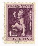 Stamps : America : Argentina :  Gratitud de los niños Argentinos a los puablos del Mundo