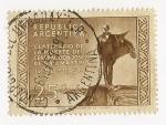 Stamps : America : Argentina :  Centenario de la muerte del General José de San Martín