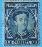 Stamps : Europe : Spain :  Alfonso XII