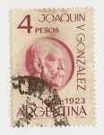Stamps : America : Argentina :  Joaquín V. Gonzales