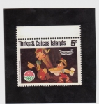 Stamps Europe - Turks and Caicos Islands -  pinocho