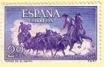 Stamps Europe - Spain -  Toros en el campo