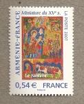Sellos de Europa - Francia -  Miniatura siglo XV Armenia