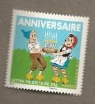 Stamps France -  Aniversario cumpleaños