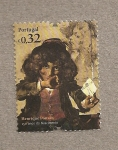 Stamps Portugal -  150 Aniv del nacimiento Henriuqe Pousao, pintor