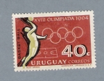Sellos de America - Uruguay -  XVIII Olimpiadas 1964