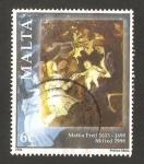 Stamps Europe - Malta -   navidad, pintura de mattia preti