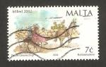 Stamps : Europe : Malta :  Navidad, María y José