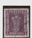 Stamps India -  Pilar de la capital de Asoka