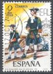 Sellos de Europa - España -  2198 Uniformes militares. Oficial Reg. Artillería, 1710