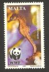 Stamps Europe - Malta -  protección a la fauna, hippocampus hippocampus