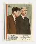 Sellos de Asia - Emiratos Árabes Unidos -  Memoria Charles de Gaulle