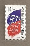 Sellos de Europa - Rep�blica Checa -  50 Aniv de la invasi�n Nazi