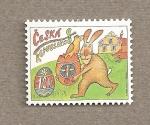 Sellos de Europa - República Checa -  Conejo con huevo de pascua