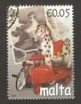 Sellos del Mundo : Europa : Malta :  juguetes antiguos, caballo balancín, triciclo y auto