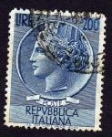 Sellos de Europa - Italia -  Antigua moneda de Siracusa
