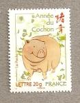 Sellos de Europa - Francia -  Año chino  del cerdo