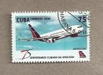 Sellos de America - Cuba -  75 Aniv. Cubana de Aviación
