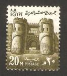Stamps Egypt -  puerta de la conquista, el cairo