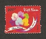 Sellos de Asia - Vietnam -  flores
