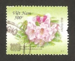 Stamps Vietnam -  flor, rhododendron fortunei