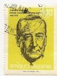 Stamps Argentina -  Teniente General Pedro Eugenio Aramburu