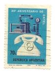 Sellos de America - Argentina -  25° Aniversario de Entel