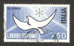 Sellos de Europa - Italia -  realizaciones italianas en el mundo, aluminia