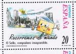 Sellos del Mundo : Europa : España : Edifil  3666  Correspondencia Epistolar Escolar.  El sello, compañero inseparable.