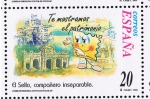 Stamps Spain -  Edifil  3671  Correspondencia Epistolar Escolar.  El sello, compañero inseparable.