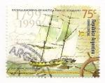 Stamps Argentina -  Escuela Nacional de Náutica Manuel Belgrano