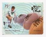 Sellos de America - Argentina -  Rugby 100 años