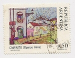 Stamps Argentina -  Caminito (Buenos Aires)
