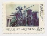 Stamps Argentina -  Rogelio Yrurtia
