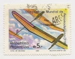 Stamps Argentina -  Campeonato Mundian de Aeromodelismo