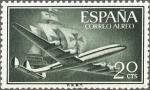 Sellos de Europa - España -  superconstellation y nao