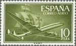 Stamps Spain -  superconstellation y nao
