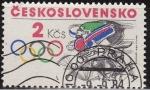 Sellos de Europa - Checoslovaquia -  CHECOSLOVAQUIA 1984 Scott 2528 Sello Nuevo Juegos Olimpicos Ciclismo Matasello de favor Preobliterad