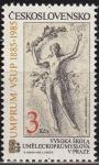 Sellos de Europa - Checoslovaquia -  CHECOSLOVAQUIA 1985 Scott 2545 Sello Nuevo Escultura Arte y Placer Cent. Universidad Aplicada