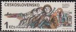 Sellos de Europa - Checoslovaquia -  CHECOSLOVAQUIA 1985 Scott 2559 Sello Nuevo Aniv. Ejercito Sovietico en CSSR 1945 Ceskolovensko