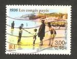 Stamps France -  vacaciones en la playa